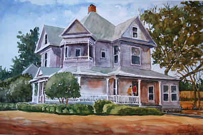The House Of Many Angles Art Print by Ron Stephens