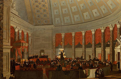 Man Of The House Painting - The House Of Representatives by Samuel Finley Breese Morse