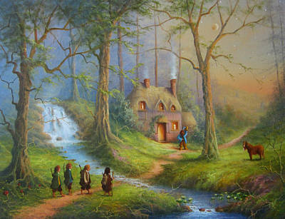 The Shire Painting - The House Of Tom Bombadil.  by Joe  Gilronan