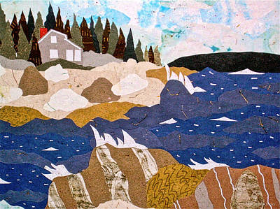 Maine Coast Mixed Media - The House On The Coast by Jane Selverstone