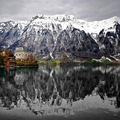 Art Print featuring the photograph The House On The Lake by Philippe Sainte-Laudy