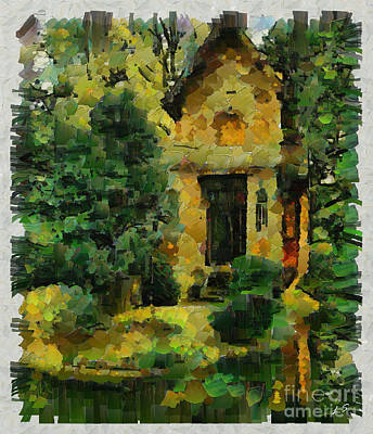 Painting - The House On The Lake by Sergey Lukashin