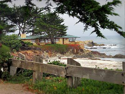 Photograph - The House On The Point At Carmel Beach by Joyce Dickens