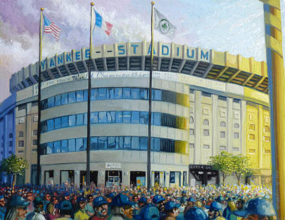 Gehrig Painting - The House That Steinbrenner Wrecked Opening Day  by Gregg Hinlicky