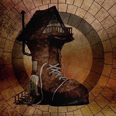 Mixed Media - The House The Boot Maker Built by Georgiana Romanovna