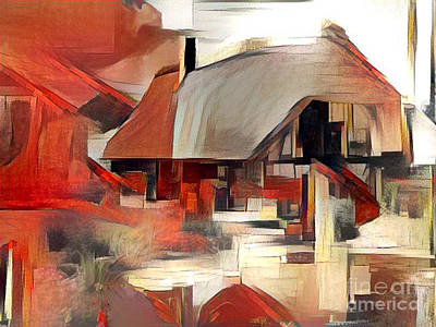 The Houses Digital Art - tHE hOUSE by Victor Arriaga
