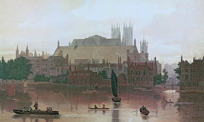 Westminster Abbey Wall Art - Painting - The Houses Of Parliament by George Fennel Robson