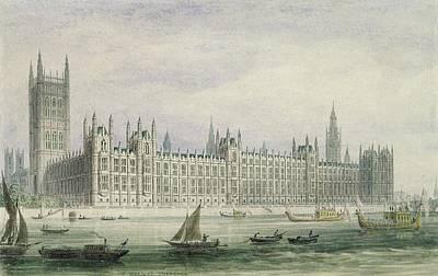 Parliament Wall Art - Photograph - The Houses Of Parliament by Thomas Hosmer Shepherd