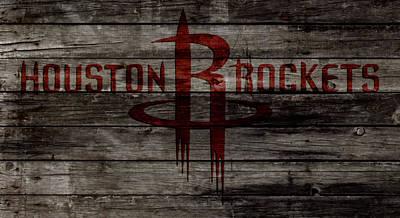 Murphy Mixed Media - The Houston Rockets 1w by Brian Reaves