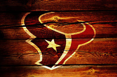 Patriot Mixed Media - The Houston Texans W1 by Brian Reaves