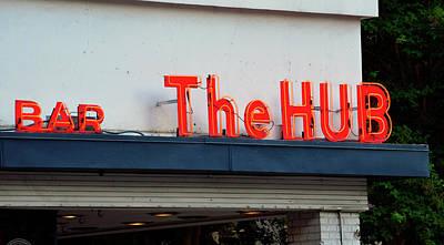 Photograph - The Hub Bar Sign by David Lee Thompson