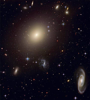 Hubble Space Telescope Views Photograph - The Hubble Space Telescope Reveals An by ESA and nASA