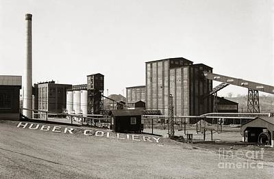 The Huber Colliery Ashley Pennsylvania 1953 Art Print