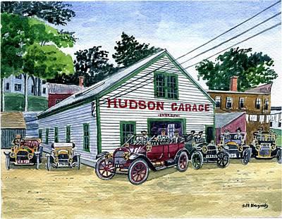 Painting - The Hudson Garage,stafford Springs Ct Circa 1915 by Jeff Blazejovsky