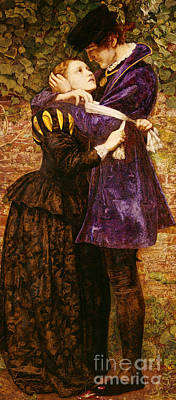 Embrace Painting - The Huguenot, 1852 by John Everett Millais