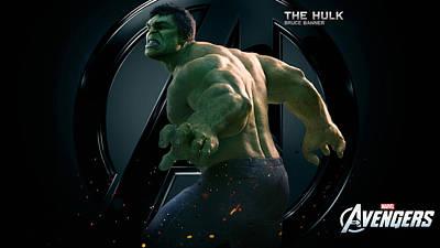 The Hulk Bruce Banner Art Print
