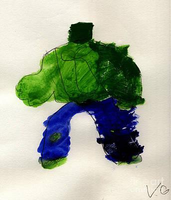 The Hulk Art Print by Vincent Gitto