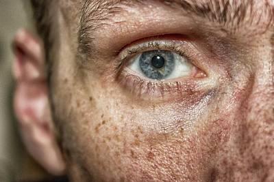 Myself Photograph - The Human Eye by Martin Newman