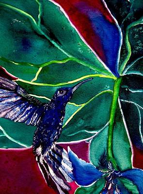 The Hummingbird And The Trillium Art Print