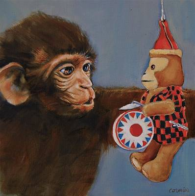 Painting - The Hundredth Monkey by Jean Cormier