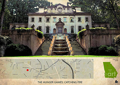 Fandom Painting - The Hunger Games Catching Fire Movie Location And Map by Pablo Franchi