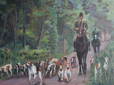 Wall Art - Painting - The Hunt by Alison Stafford