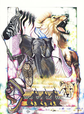 Drawing - The Hunt by Anthony Burks Sr