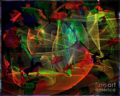 Digital Art - The Hunt by Edmund Nagele