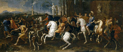 Painting - The Hunt Of Meleager by Nicolas Poussin