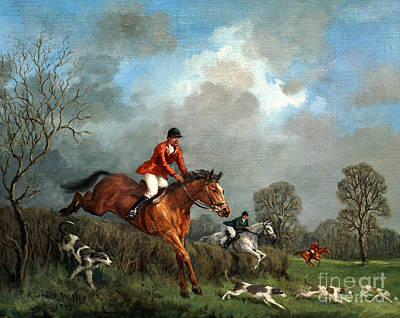 Horseback Painting - The Hunt by Richard Willis