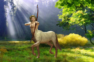 Astrological Digital Art - The Hunter by John Edwards