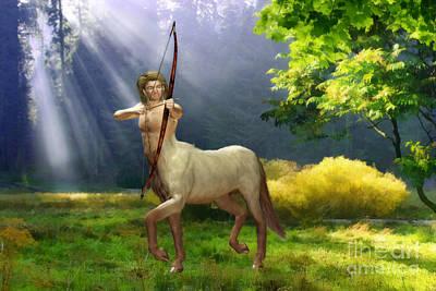 Centaur Digital Art - The Hunter by John Edwards