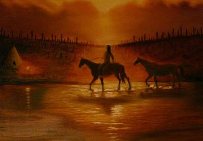 Painting - The Hunter Returns by Gene Gregory