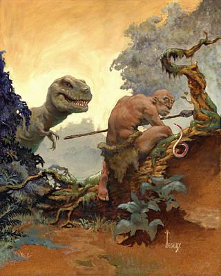 Atlantis Painting - The Hunter by Richard Hescox