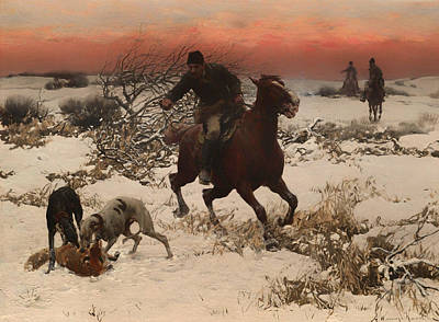 Poland Art Painting - The Hunters by Mountain Dreams