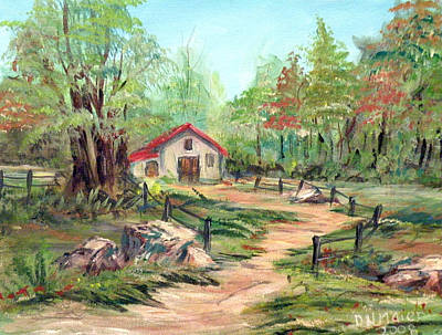 Painting - The Hunter's House by Dorothy Maier