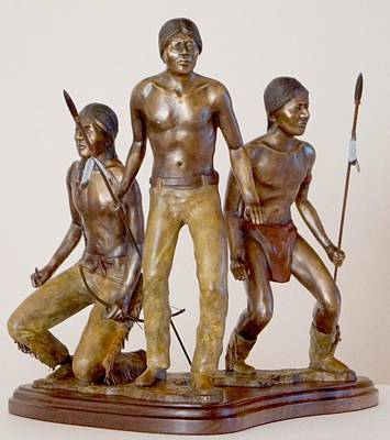 Western Sculpture - The Hunters by Hugh Blanding