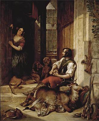 Painting - The Hunter's Return by Thomas Jones Barker