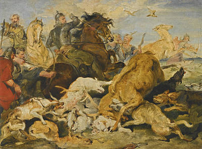 Painting - The Hunting Of Chevy Chase by Edwin Landseer