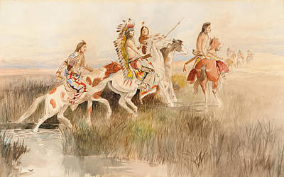 Hunting Party Painting - The Hunting Party by Celestial Images