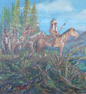 Lynn Burton Wall Art - Painting - The Hunting Party  by Lynn Burton
