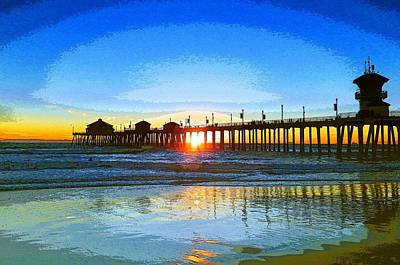 Photograph - The Huntington Beach Pier by Everette McMahan jr
