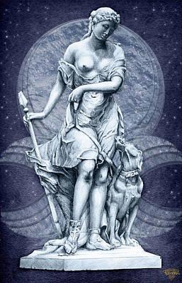 The Huntress Art Print by Greg Piszko