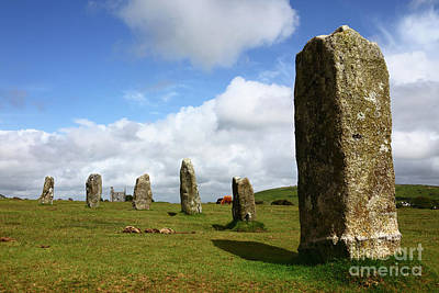 Bodmin Photograph - The Hurlers Stone Circle Bodmin Moor Cornwall by James Brunker