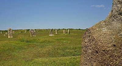 Photograph - The Hurlers Stone Circles Bodmin Moor by Richard Brookes