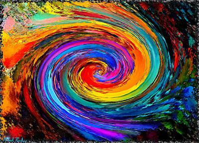 Lyrical Digital Art - The Hurricane - Abstract by Michael Rucker