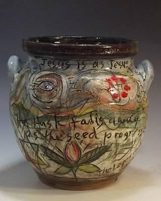 Ceramic Art - The Husk Falls Away by Stephen Hawks