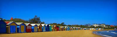 Beach Landscape Mixed Media - The Huts by Kathryn Potempski