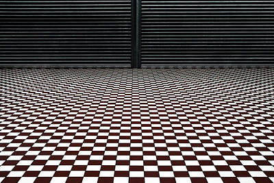 Symmetry Photograph - The Hypnotic Floor by Gilbert Claes