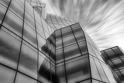 Photograph - The Iac Building Bw by Susan Candelario